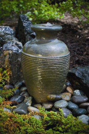 Amphora Vase Fountain Aquascape Fiberglass Stone