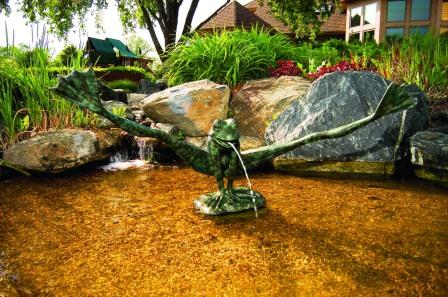 Aquascape Brass - Crazy Legs Spitters / Fountain for Water Gardens & Ponds