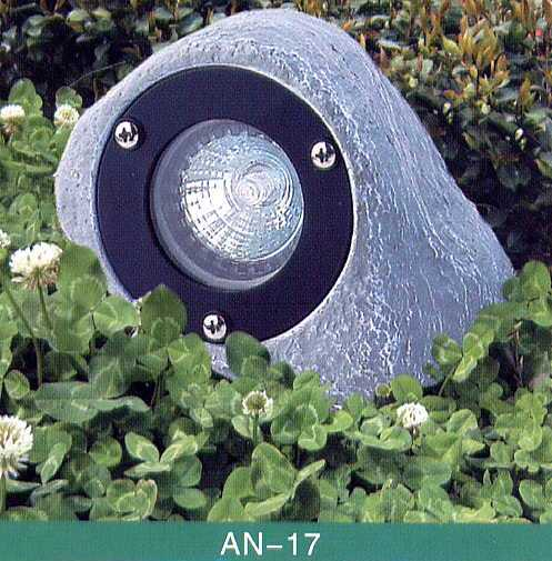 Animal Lighting - Poly Resin Composit - Low Voltage 12 Volt Landscape Fixture - Rock