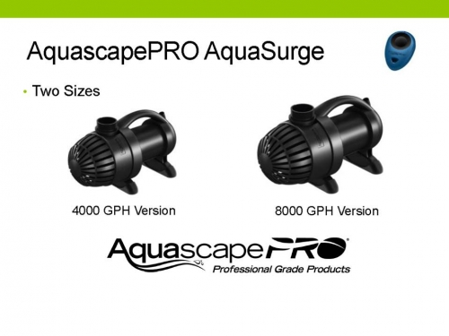 Aquascape AquaSurgePRO 2000-4000 gph Adjustable Flow Water Garden & Pond Submersible Pump LARGE
