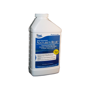 Blue Dye - Super Concentrated Blue Pond & Lake Dye in Quart Container