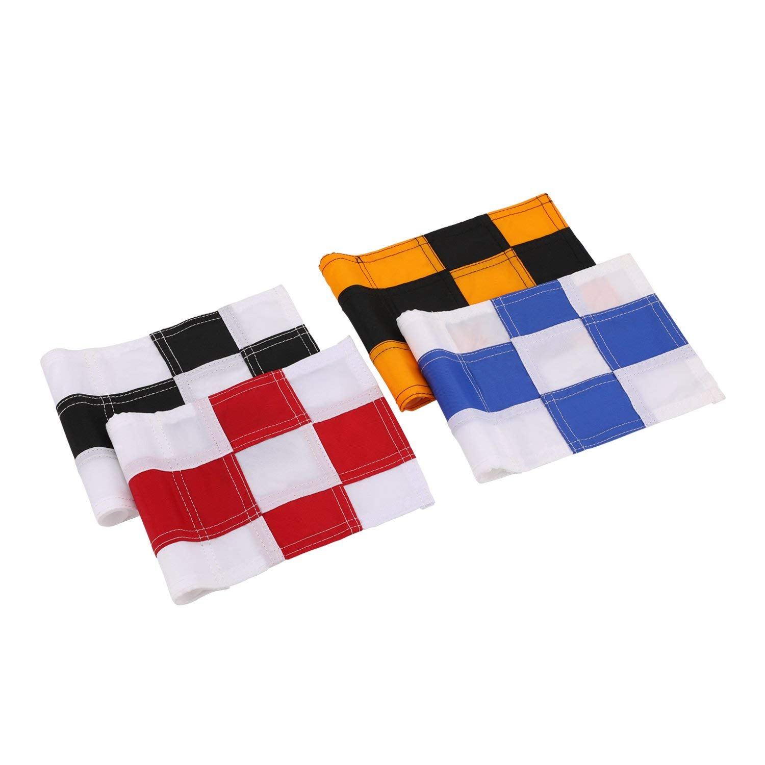 Colored Checkered Jr Practice Golf Pin Marker Flag THUMBNAIL