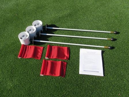 Deluxe Practice Putting Green Accessory Kits - For Golf & Putting Green Applications LARGE