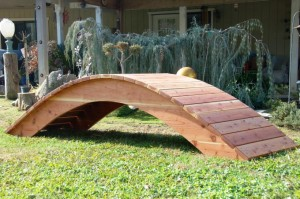 High Arch/Rise - Custom Built - 100% California Redwood Bridges