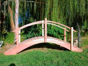 High Arch/Rise - Custom Built - 100% California Redwood Bridges_LARGE