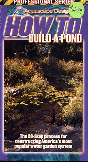 Clearance - How To Build A Pond - VHS THUMBNAIL