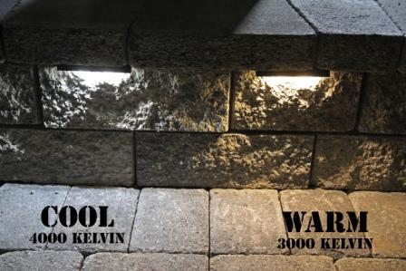 Genial See How The Color Of The Light Makes The Wall, Pavers, U0026 Grass Look  Different. We Sell Both The Lights In Either Warm Or Cool LEDu0027s