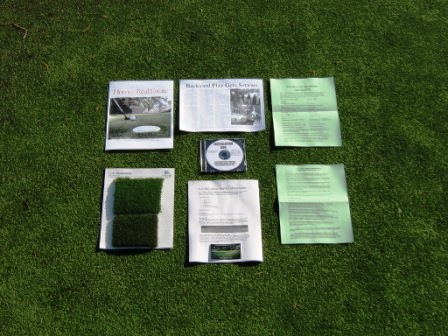 Synthetic Putting Green Installation Instructions + Samples of our Premium Nylon & Polypropylene
