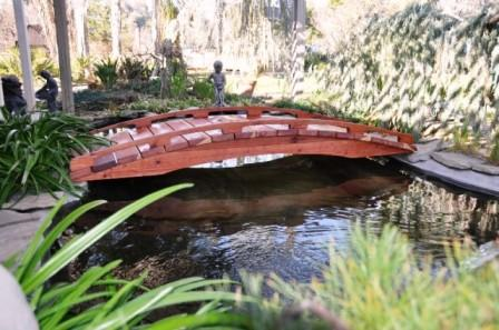 8' Japanese Style 100% Redwood Bridge LARGE