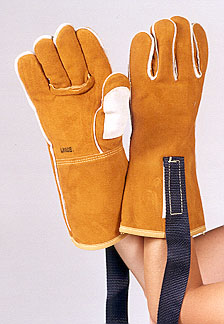 "14"" Split Grain Animal Handling Gloves with Kevlar Lining for Bite Protection"