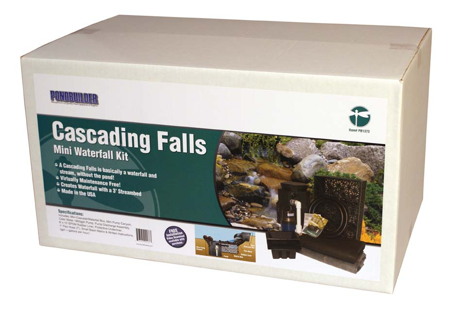 3 Foot Mini Cascading Falls Kit by PondBuilder