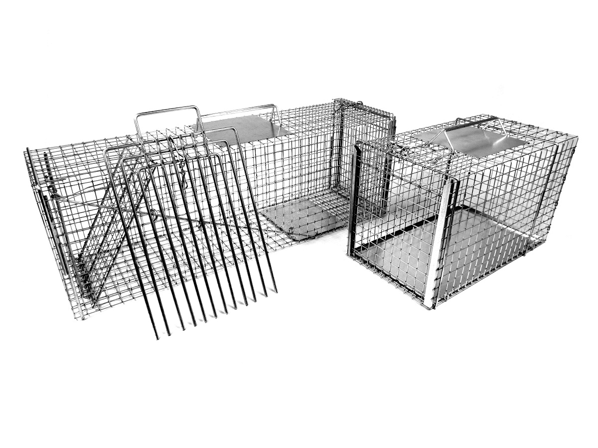 "Large 36"" Trap-Neuter-Return Neighborhood Cat Animal Trap Kit with Divider THUMBNAIL"