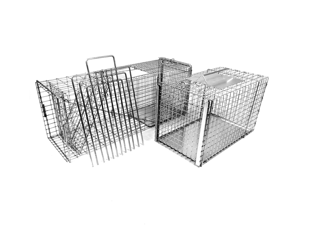 "Medium/Large 32"" Trap-Neuter-Return Neighborhood Cat Animal Trap Kit with Divider THUMBNAIL"