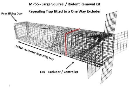 "Professional - Large Sized Squirrel / Rodent Removal Kit (36"" x 4.5"" x 4.5"") LARGE"