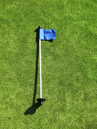 33 Inch  Practice Green Marker w/ Easy Grab Knob , Colored/Numbered Flag, & Golf Ball Retrieval Disk