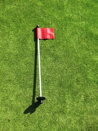 33 Inch  Practice Green Marker w/ Easy Grab Knob , Colored/Numbered Flag, & Golf Ball Retrieval Disk MAIN