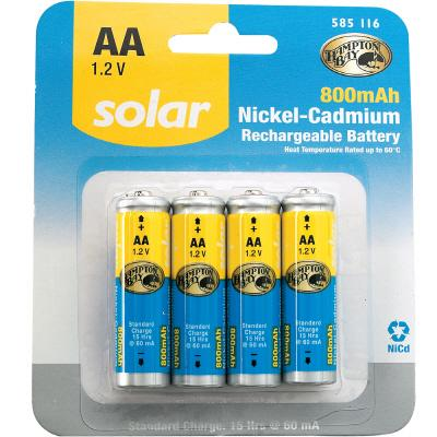 REPLACEMENT Solar 1.2-v (800 mAH)  AA NiCad Batteries for our Solar LED Post Cap Lights THUMBNAIL