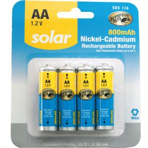 REPLACEMENT Solar 1.2-v (800 mAH)  AA NiCad Batteries for our Solar LED Post Cap Lights LARGE