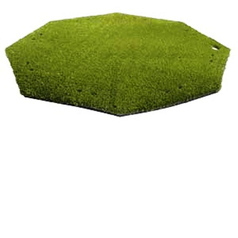 "Golf Driving Range / Chipping Mats - AstroTurf 58"" Octagonal Turf Mat with 5/8"" Pile Height THUMBNAIL"
