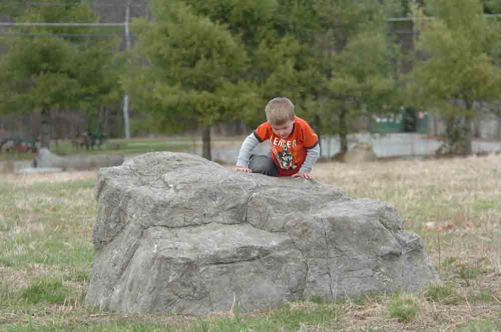 Small Playground & Climbing Boulder for Schools & Parks LARGE
