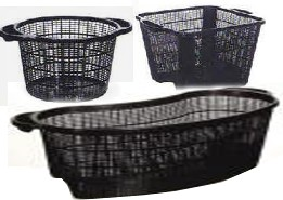 Aquatic Plastic Planting Baskets with Handles for Water Garden & Pond Plants