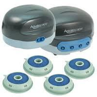Aquascape Pond Air 2 & 4 - For Water Garden, Sm Pond & Rainwater Collection Aeration_THUMBNAIL