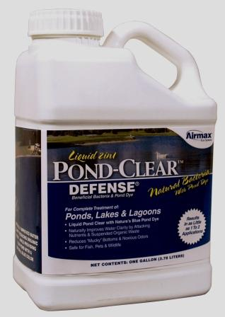 Pond-Clear Liquid (Gallon) Beneficial Bacteria w/Blue Dye for Ponds & Lakes