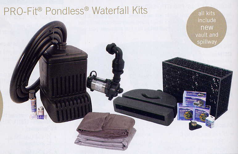 Complete Pro-Fit Medium 16' Pondless Waterfall Kit - By Aquascape with FREE SHIPPING!_THUMBNAIL