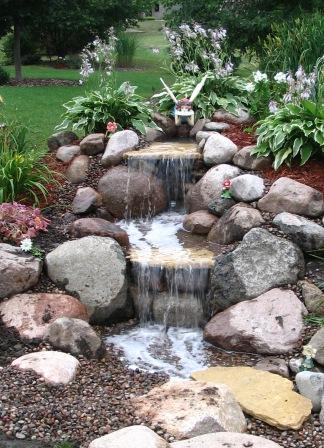 Water garden pond products pondless waterfall stream for Tiered pond waterfall