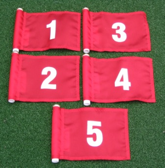 Red with White Numbers