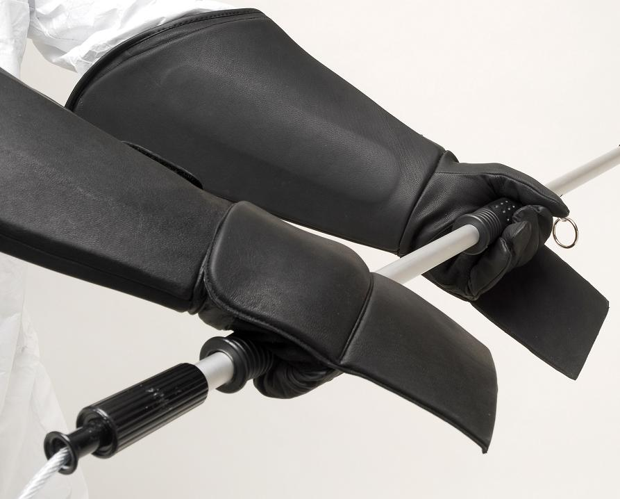 Leather Resistor Wildlife Handling Gloves with Padded Gauntlet