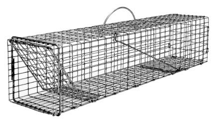Flush Mount Simple Animal Trap - Skunk, Opossum, Prairie Dog Size (24 x 7 x 7) LARGE