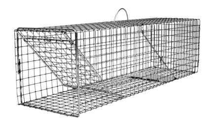 Flush Mount Simple Animal Trap - Cat, Rabbit, Wood Chuck Size (32 x 9 x 9)