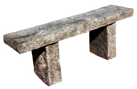 Createk Stone - 4 Foot Classic Stone Bench (SB-2) - Realistic Looking Faux Granite Stone