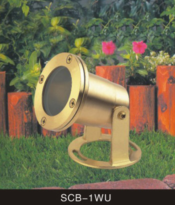 Underwater Lighting - Solid Cast Brass - Low Voltage 12 Volt Landscape Fixture - SCB-1WU