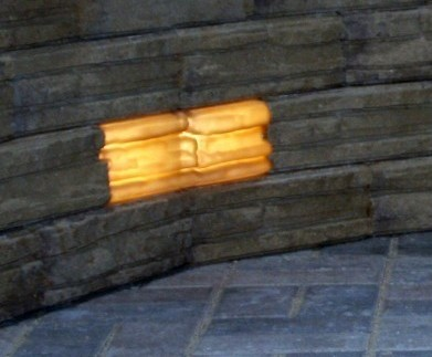 "Kerr Lighting 12 Volt StackedStone Wall Lights 4"" x 12"" For 4"" Thick Modular Retaining Wall Systems"