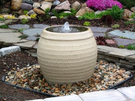 Aquascape Ceramic   Ceramic Angled Top Urn Bubblers For Gardens U0026 Displays  U2013 TJB INC Online Store