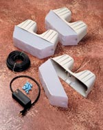 "Kerr Lighting 12 Volt Garden Wall Lights 4"" x 12"" For 4"" Thick Modular Retaining Wall Systems LARGE"