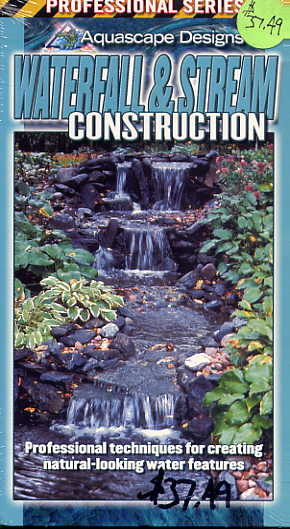 Clearance -  Waterfall & Stream Construction - Water Garden & Pond VHS  -  By Aquascape Designs THUMBNAIL