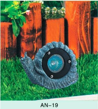 Animal Lighting - Poly Resin Composit - Low Voltage 12 Volt Landscape Fixture - Snail