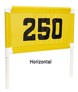 Nylon Range Banners by Standard Golf - Horizontal