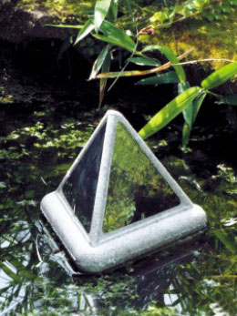 Brilliant Pyramid Blue Heron Deterrent by Velda