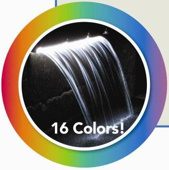 Color Changing Colorfalls - Waterfall Weir & LED w/Transformer by Atlantic Water Gardens LARGE