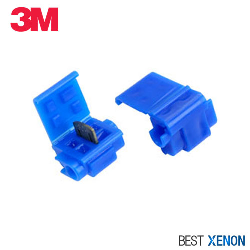 3M Run-Tap Moisture Resistant Solderless Connectors - Pair (2) of Blue Connectors with Silicone Gel