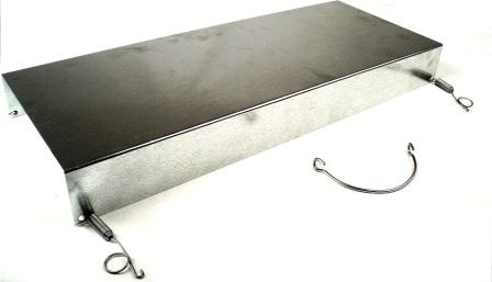 "Galvanized Trap Cover for All 12"" Wide Animal Traps - Fits Top or Bottom"