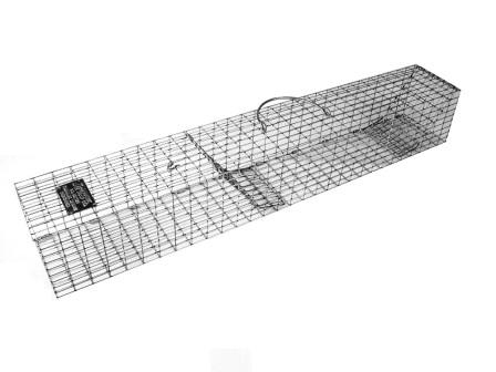 "Multiple Catch Animal Trap with Recess Doors - Medium Rodent Size (30"" x 4"" x 4"") THUMBNAIL"
