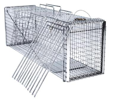 Medium/Large - Trap-Neuter-Return Neighborhood Cat Animal Trap Kit with Divider