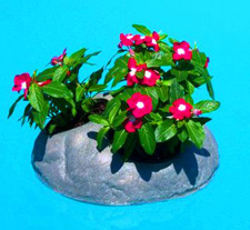 16 Inch Floating Rock Flower Beds for Ponds, Water Gardens, & Swimming Pools