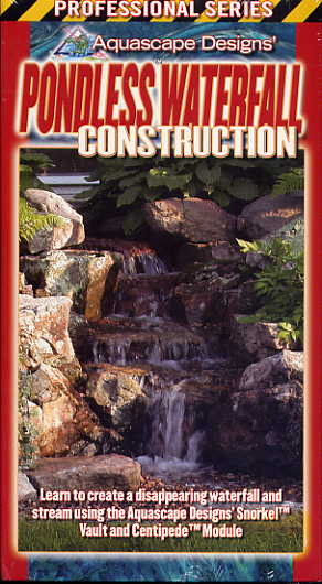 Clearance - Aquascape Pondless Waterfall Construction - Instructional Water Garden & Pond DVD MAIN