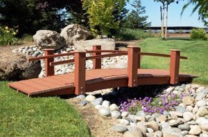 Hand Made 100% ChoiceDek or Trex Bridges For Gardens, Paths, & Ponds THUMBNAIL